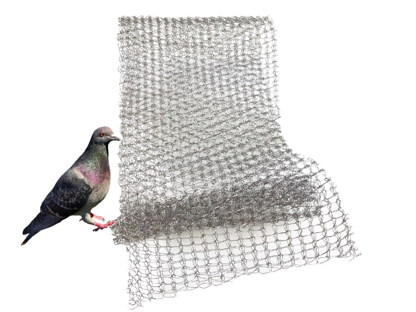 RVS wering gaas - vogelwering -afdichtingsnet 10cm per meter